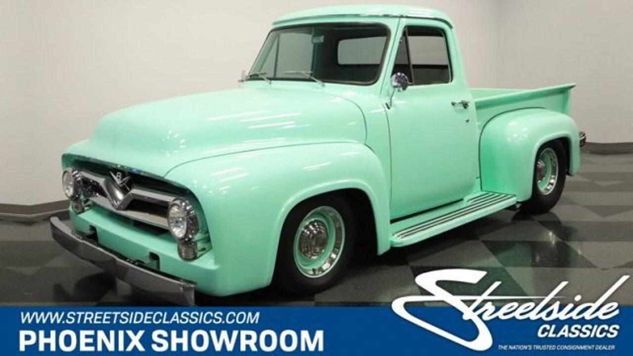 1955 Ford F100 For Sale Near Meza Arizona 85204 Classics On Stepside Pickup 100952857