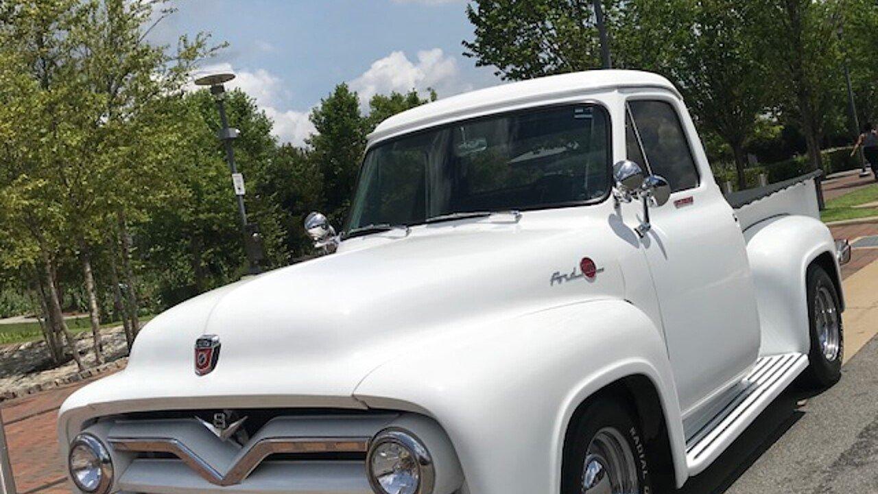 1955 Ford F100 2wd Regular Cab For Sale Near Birmingham Alabama Vin Location 101004892