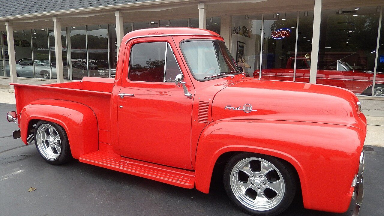 1955 Ford F100 For Sale Near Clarkston Michigan 48346 Classics On Truck Steering Wheels 101037552