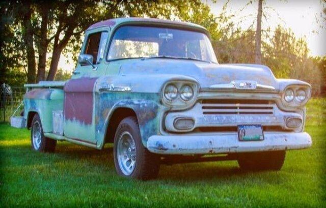 58 chevy apache panel truck