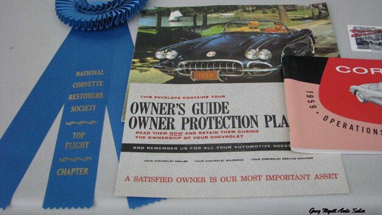 1959 Chevrolet Corvette for sale near SUMMERVILLE, Georgia 30747 ...