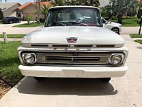 1962 Ford F100 2WD Regular Cab for sale 101007650