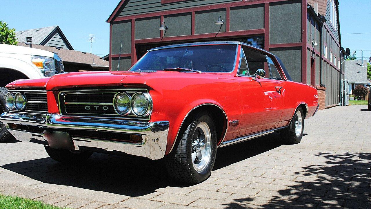 Pontiac Classics For Sale Near Portland Oregon On Autotrader 1965 Gto Tripower 4speed Starlight Black With 1964 100881971