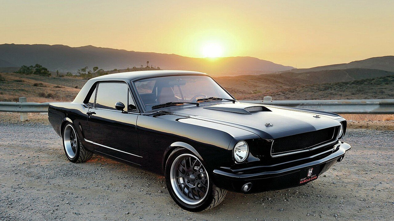 The vintage vibe of a ford mustang