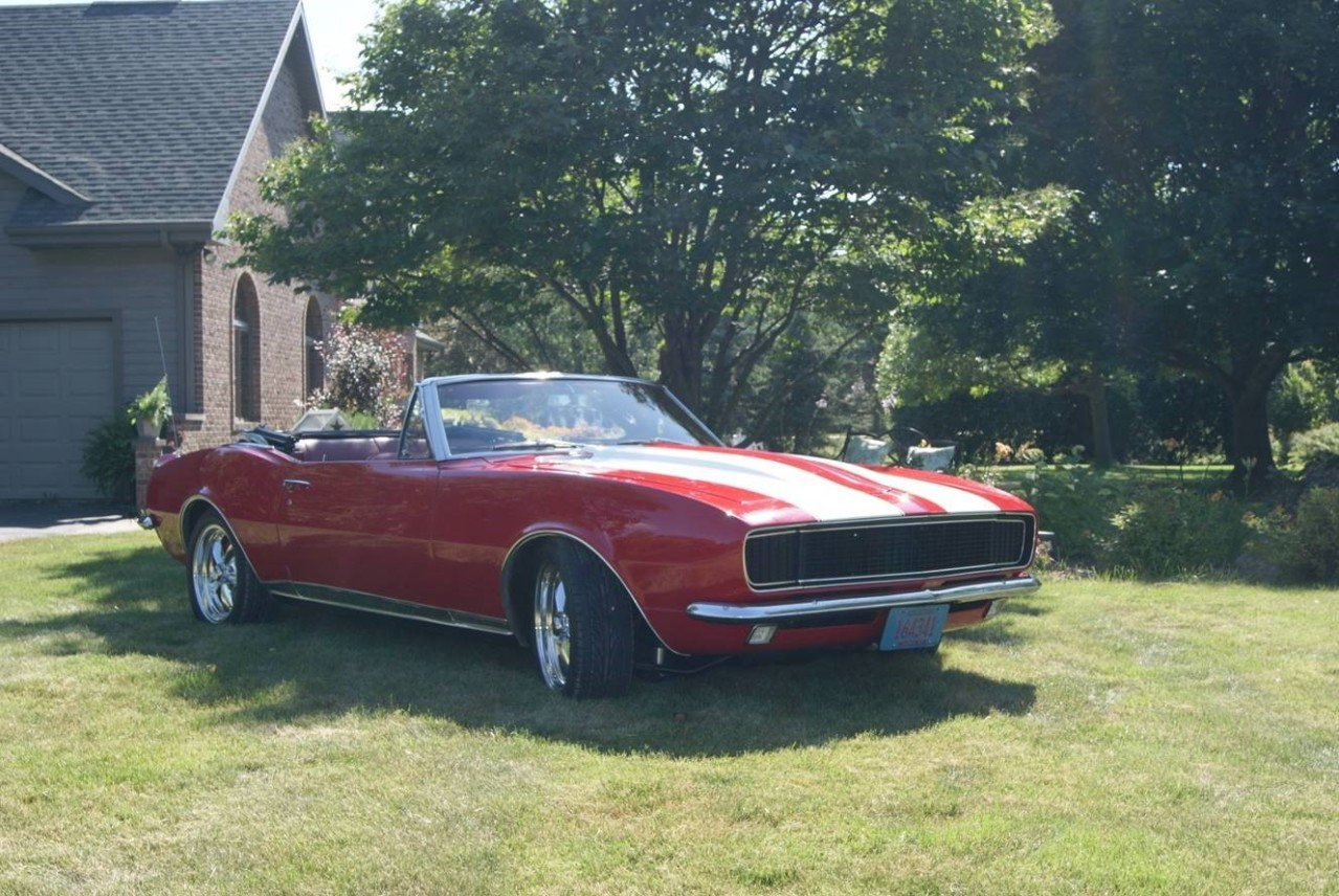 1967 Chevrolet Camaro Convertible For Sale Near Janesville