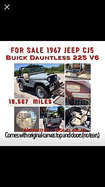 1967 Jeep CJ-5 for sale 101011640
