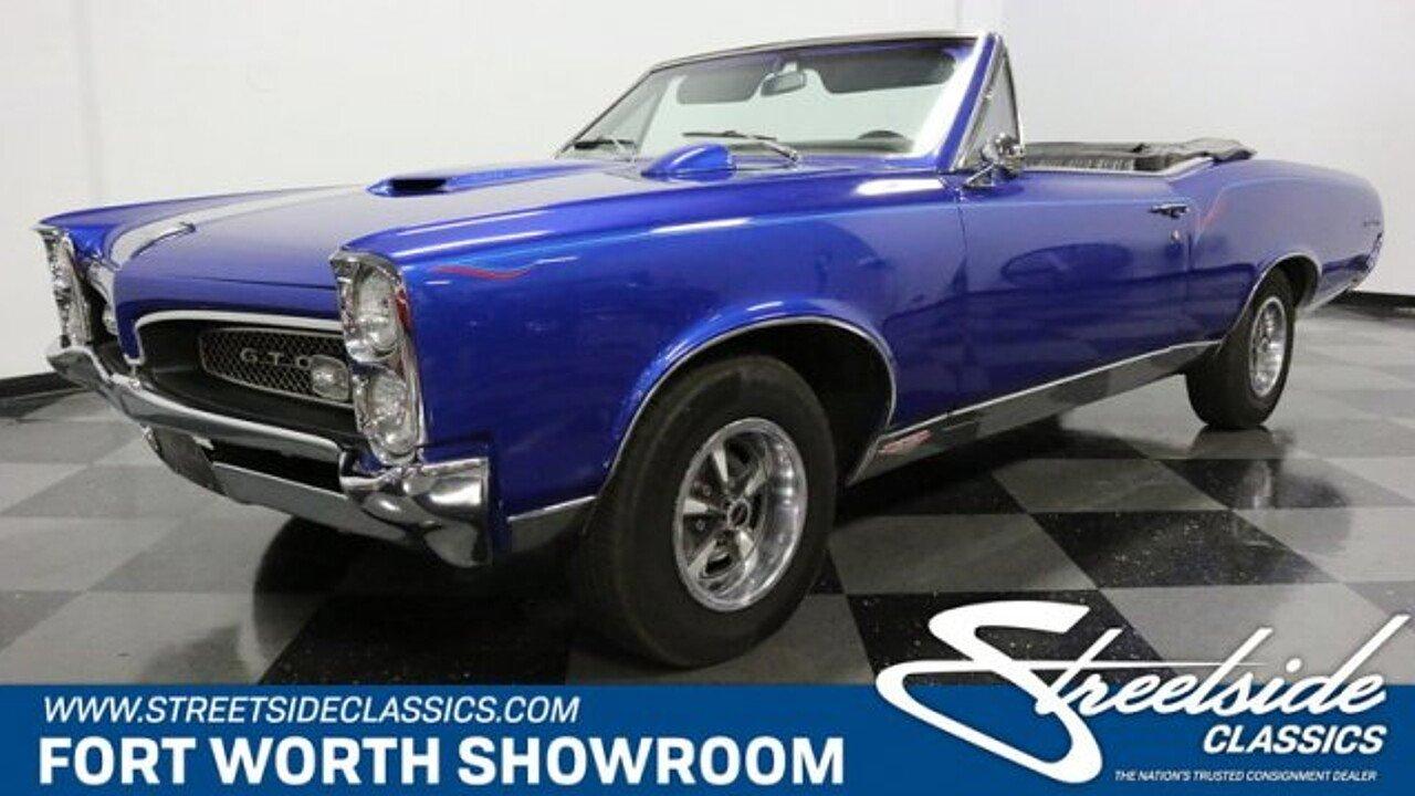 1967 Pontiac Gto For Sale Near Fort Worth Texas 76137
