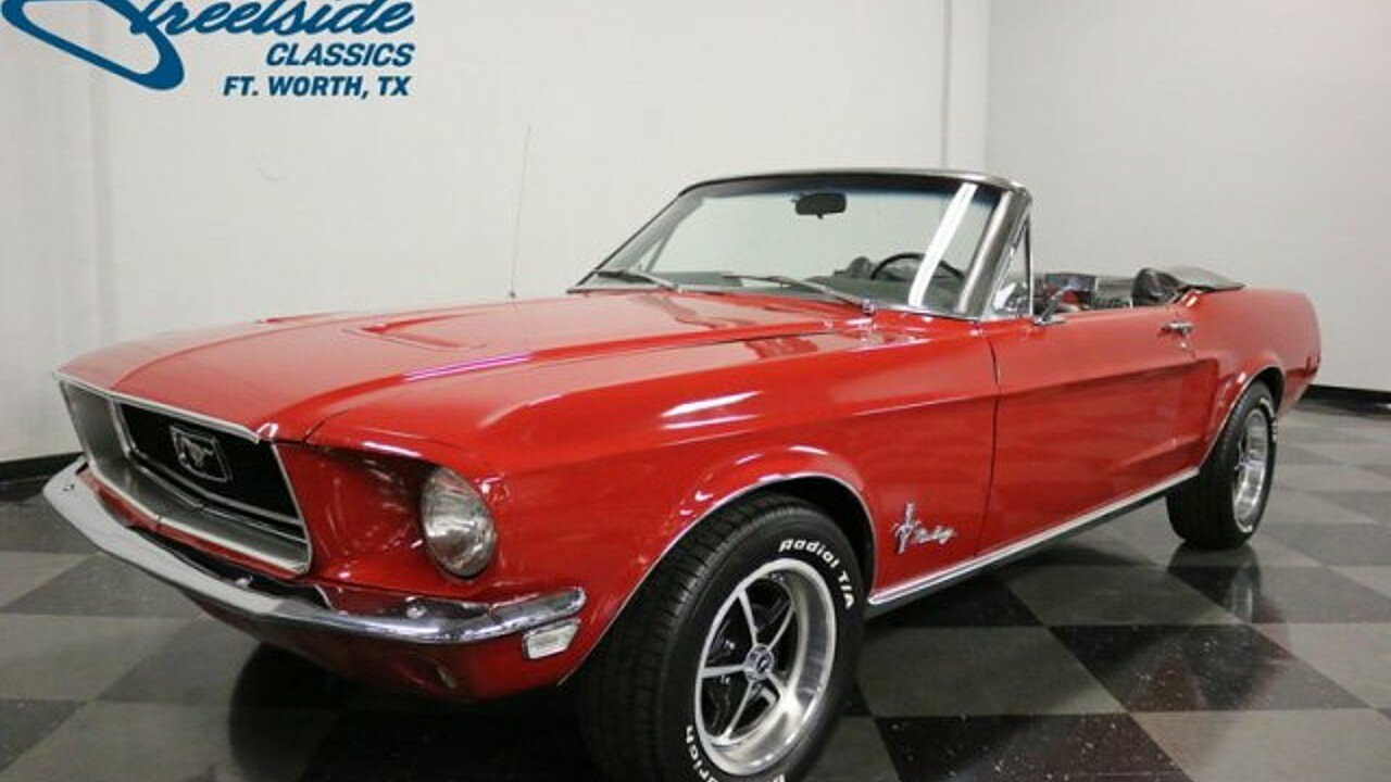 1968 Ford Mustang for sale near Fort Worth, Texas 76137 - Classics ...