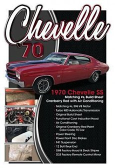 1970 Chevrolet Chevelle for sale 100954616