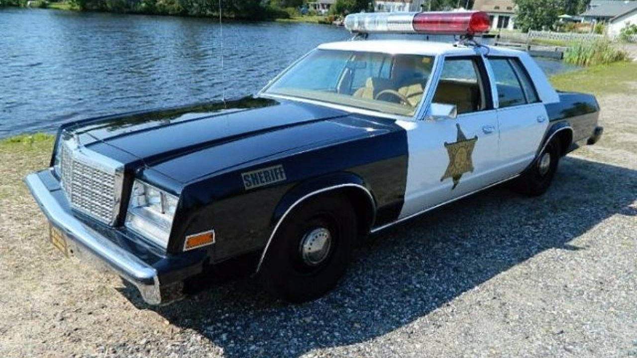 Classic American Police Car For Sale
