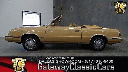 1985 Chrysler LeBaron Convertible for sale 100766404