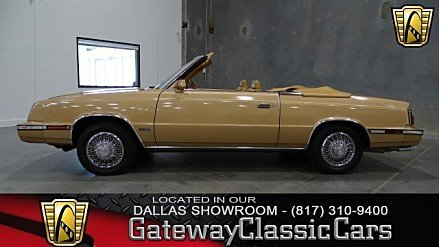 1985 Chrysler LeBaron Convertible for sale 100766404