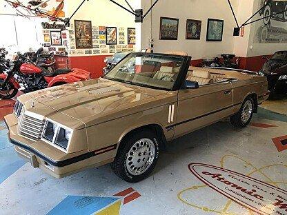 1985 Dodge 600 ES Convertible for sale 100997769