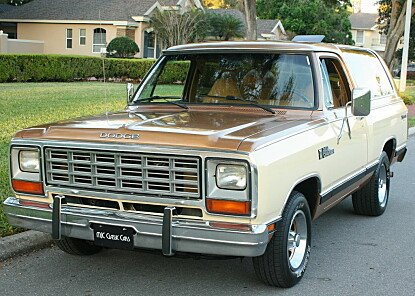 1985 Dodge Ramcharger AD 100 2WD for sale 100850118