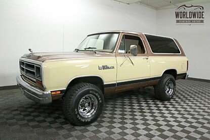 1986 Dodge Ramcharger 4WD for sale 100799095