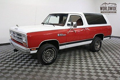 1986 Dodge Ramcharger 4WD for sale 100863237
