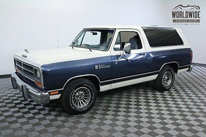 1987 Dodge Ramcharger 2WD for sale 100842158