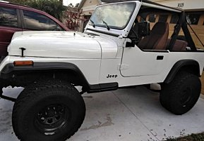 1987 Jeep Wrangler 4WD for sale 100992550