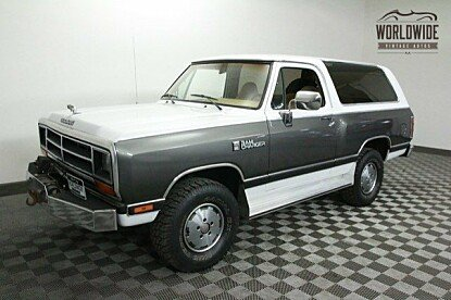 1988 Dodge Ramcharger 4WD for sale 100782405