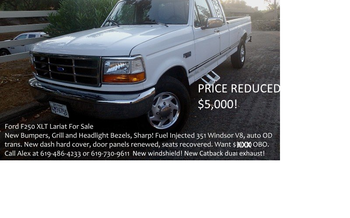 1992 Ford F250 2WD SuperCab for sale 101016340