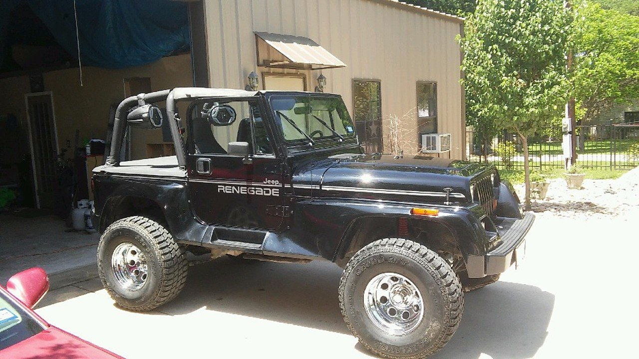 1993 jeep wrangler 4wd renegade for sale near marble falls texas 78654 classics on autotrader. Black Bedroom Furniture Sets. Home Design Ideas