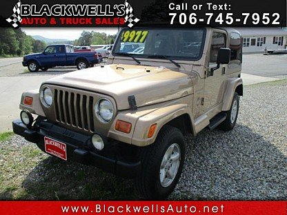 2000 Jeep Wrangler 4WD Sahara for sale 100984110