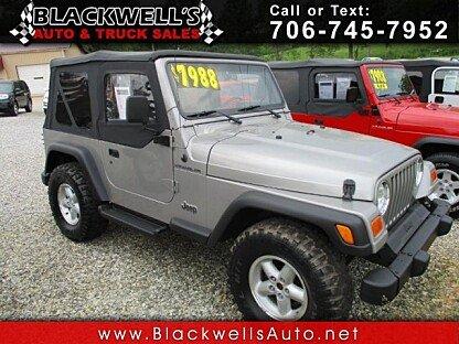 2000 Jeep Wrangler 4WD SE for sale 100986837