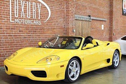 2001 Ferrari 360 Spider for sale 100820462