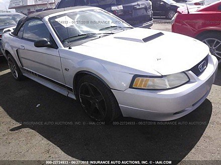 2001 ford Mustang GT Convertible for sale 101016068