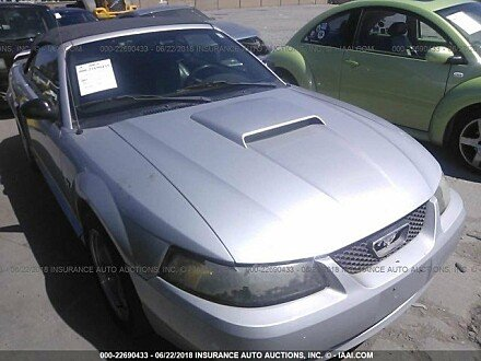 2001 ford Mustang GT Convertible for sale 101016084
