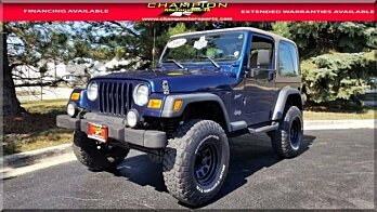 2002 Jeep Wrangler 4WD Sport for sale 100905528
