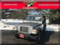 2002 Jeep Wrangler 4WD SE for sale 100954800