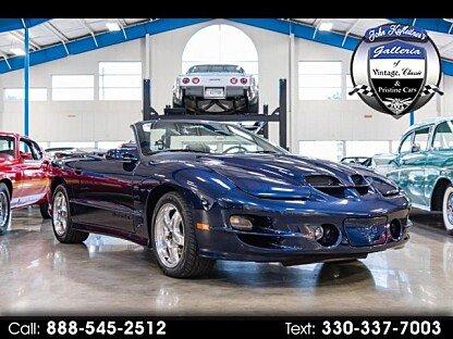 2002 Pontiac Firebird Trans Am Convertible for sale 101031224