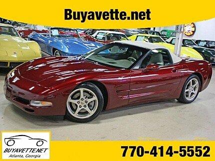 2003 Chevrolet Corvette Convertible for sale 100968717