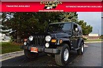 2003 Jeep Wrangler 4WD Sahara for sale 100924075