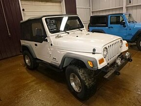 2003 Jeep Wrangler 4WD SE for sale 100986520