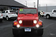 2003 Jeep Wrangler 4WD X for sale 101055081