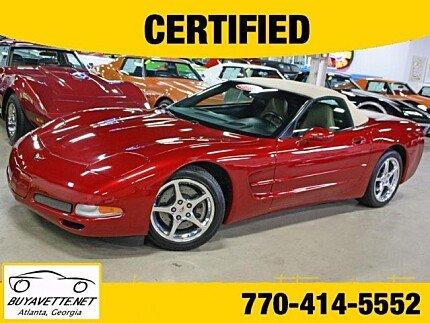 2004 Chevrolet Corvette Convertible for sale 101003924