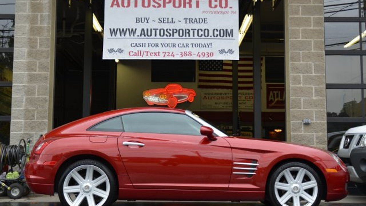 2004 Chrysler Crossfire Coupe for sale 101038245