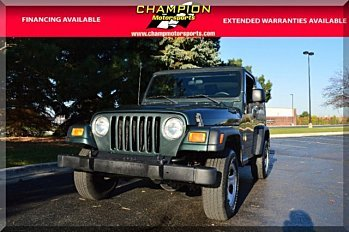 2004 Jeep Wrangler 4WD X for sale 100924077