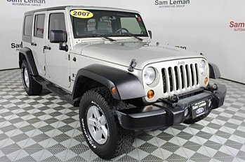 2007 Jeep Wrangler 4WD Unlimited X for sale 100985182