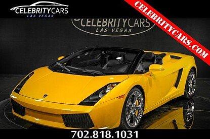 2007 Lamborghini Gallardo Spyder for sale 100900174