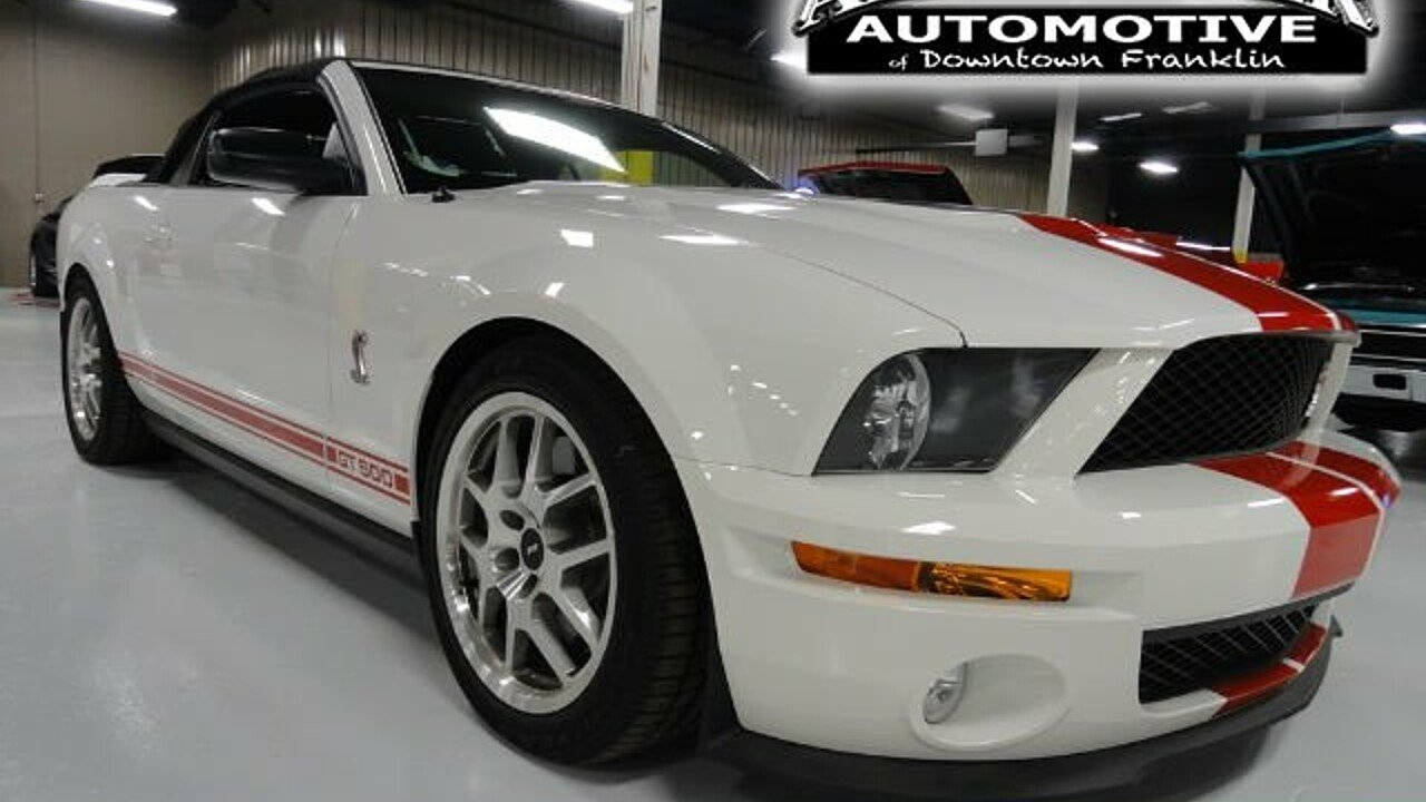 2008 Ford Mustang Shelby GT500 Convertible for sale 100860535