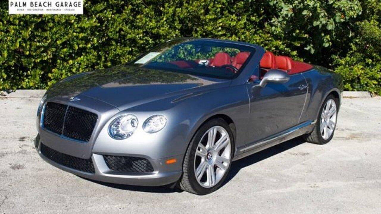 2013 Bentley Continental GT V8 Convertible for sale near Stuart ...