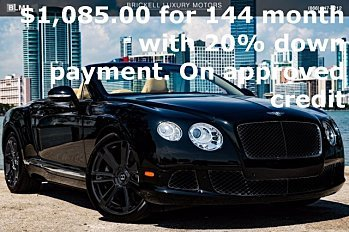 2013 Bentley Continental GT Convertible for sale 100972019