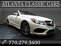 2014 Mercedes-Benz E550 Cabriolet for sale 100877918