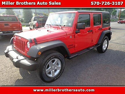 2015 Jeep Wrangler 4WD Unlimited Sport for sale 100990999