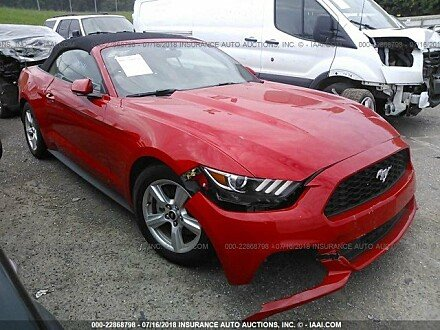 2015 ford Mustang Convertible for sale 101016095