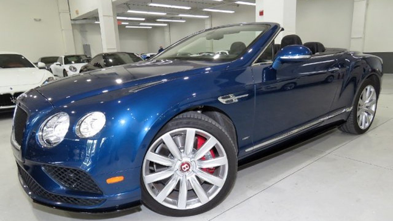 2016 Bentley Continental GT V8 S Convertible for sale 100989323