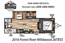 2016 Forest River Wildwood for sale 300155574